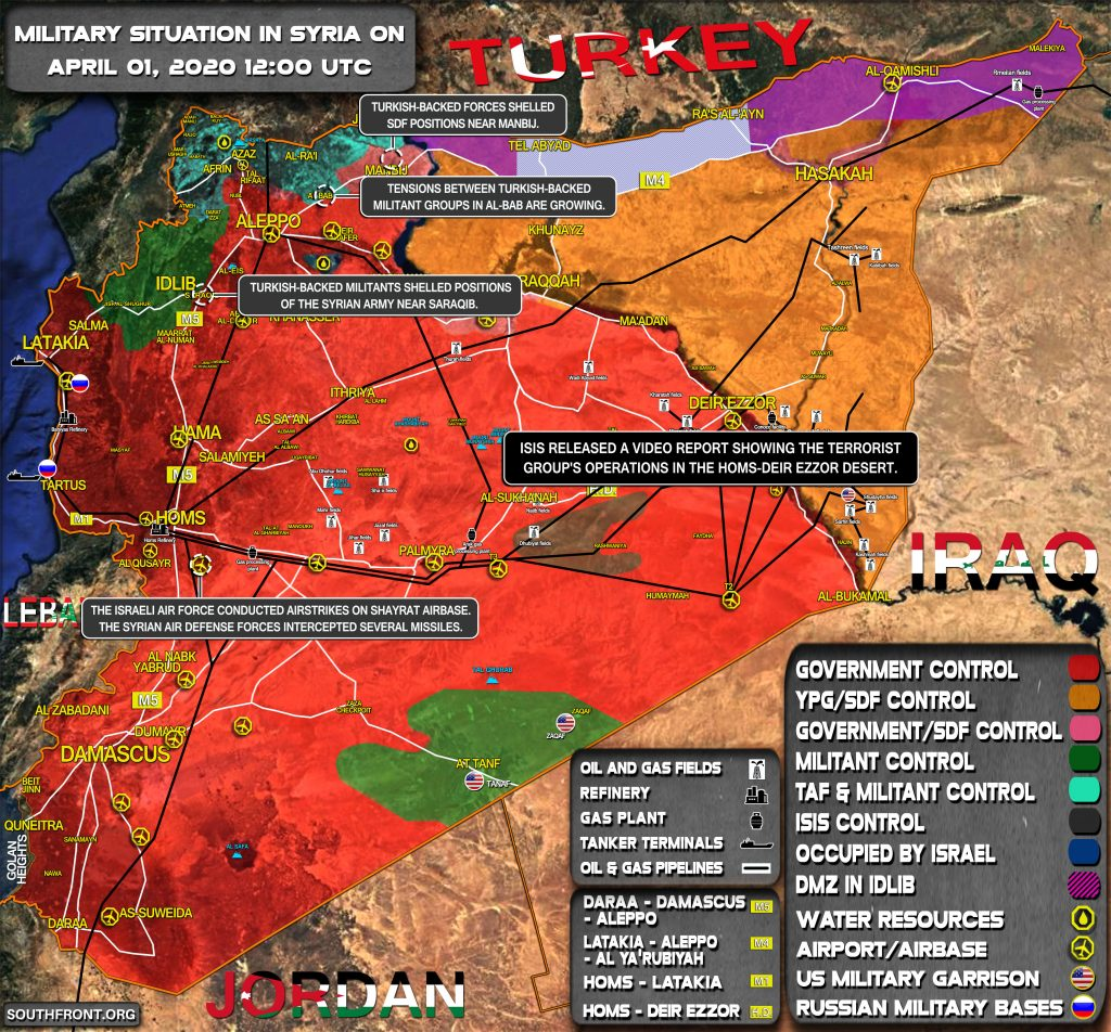 Military Situation In Syria April 1, 2020 (Map Update)