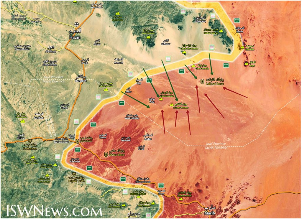 In Maps: Ansar Allah Forces Advancing Inside Saudi Arabia