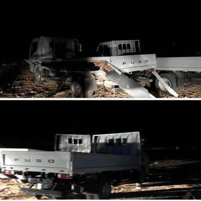 Turkish UAV Targeted Small Military Medical Convoy (Photos)