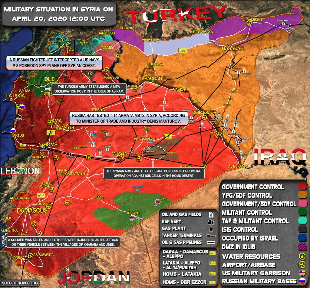 Military Situation In Syria On April 20, 2020 (Map Update)