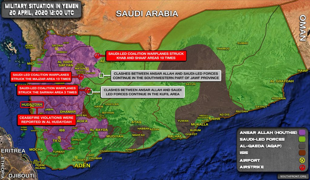 Military Situation In Yemen On April 20, 2020 (Map Update)