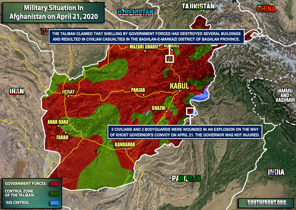 Military Situation In Afghanistan On April 21, 2020 (Map Update)