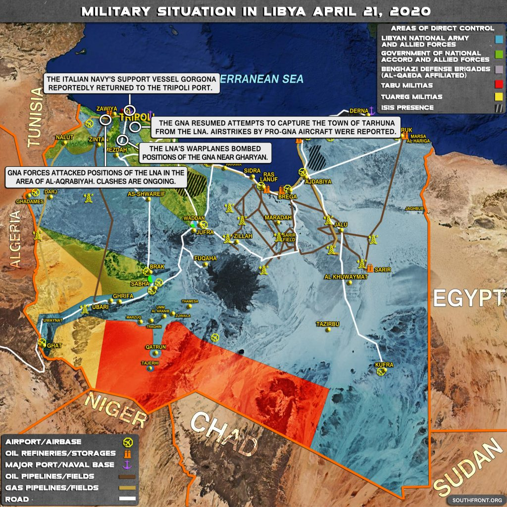 Military Situation In Libya On April 21, 2020 (Map Update)