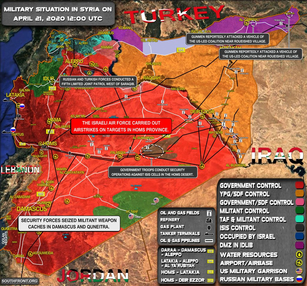 Military Situation In Syria On April 21, 2020 (Map Update)