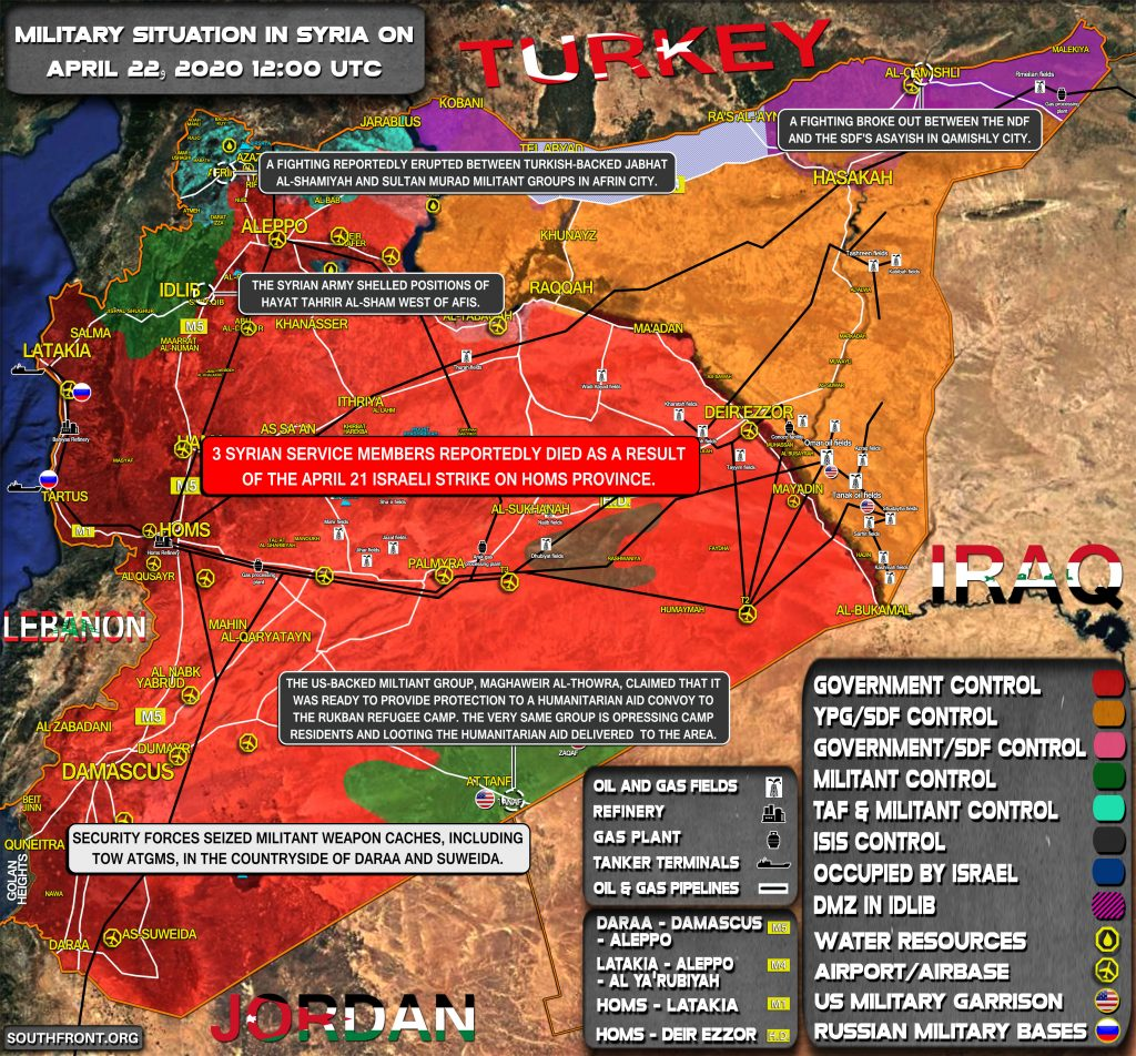 Military Situation In Syria On April 22, 2020 (Map Update)