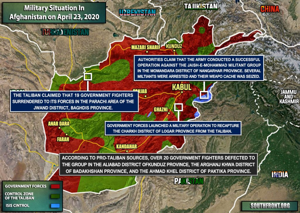 Military Situation In Afghanistan On April 23, 2020 (Map Update)
