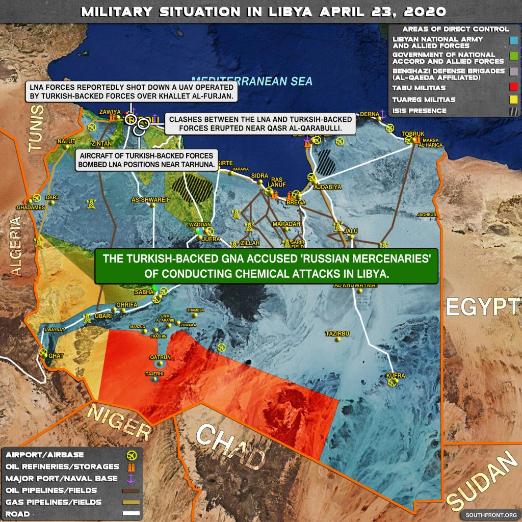 Military Situation In Libya On April 23, 2020 (Map Update)