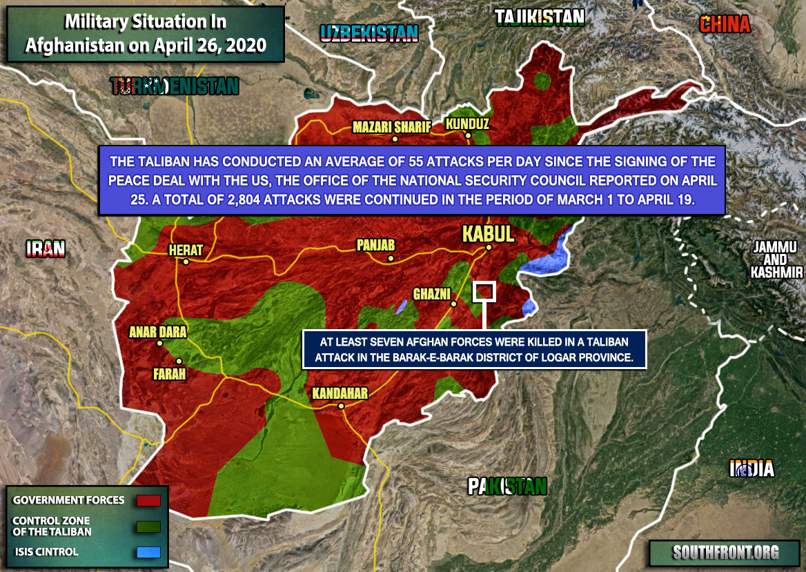 Military Situation In Afghanistan On April 26, 2020 (Map Update)