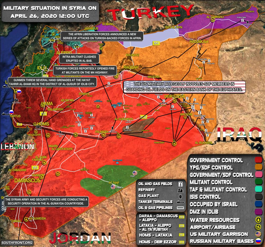 Military Situation In Syria On April 26, 2020 (Map Update)