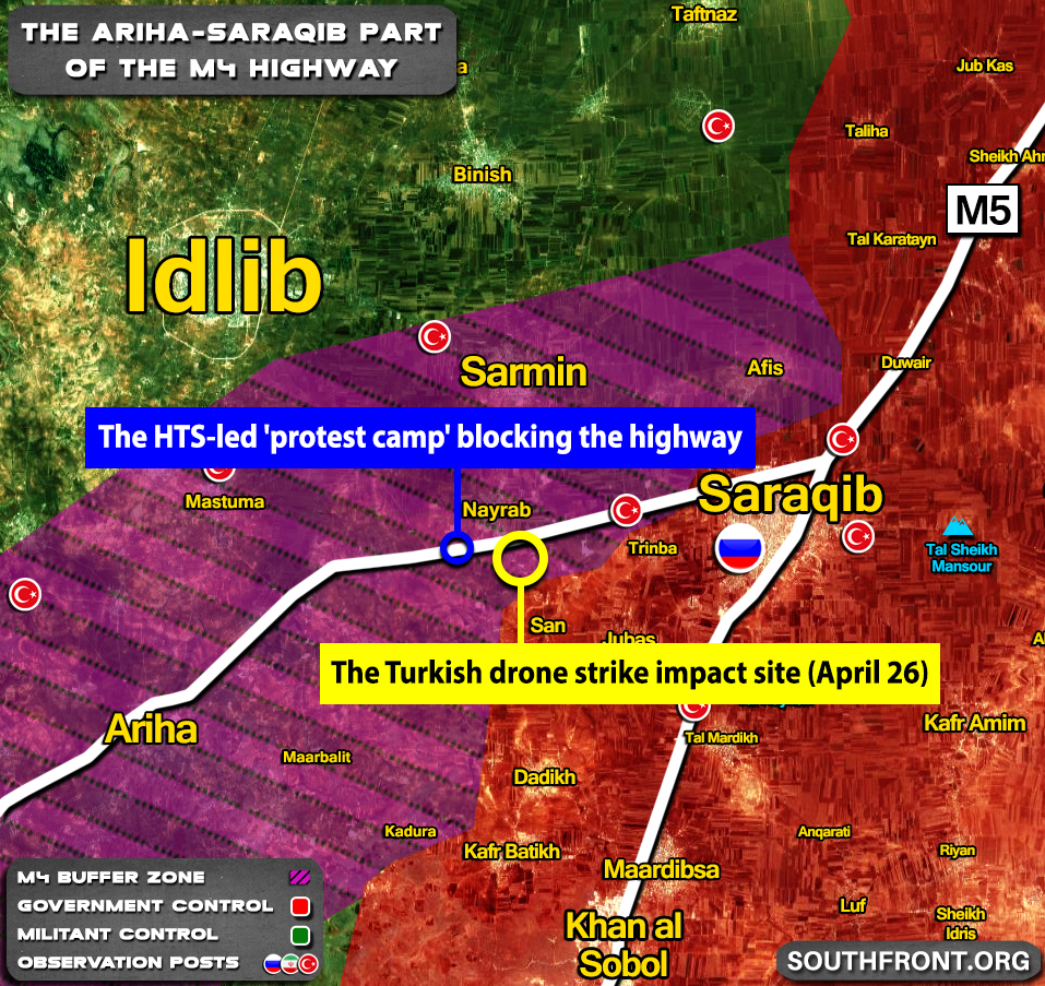 Map Update: Military Situation In Area Of Nayrab Where Clashes Between Turkish Troops And HTS Militants Erupted