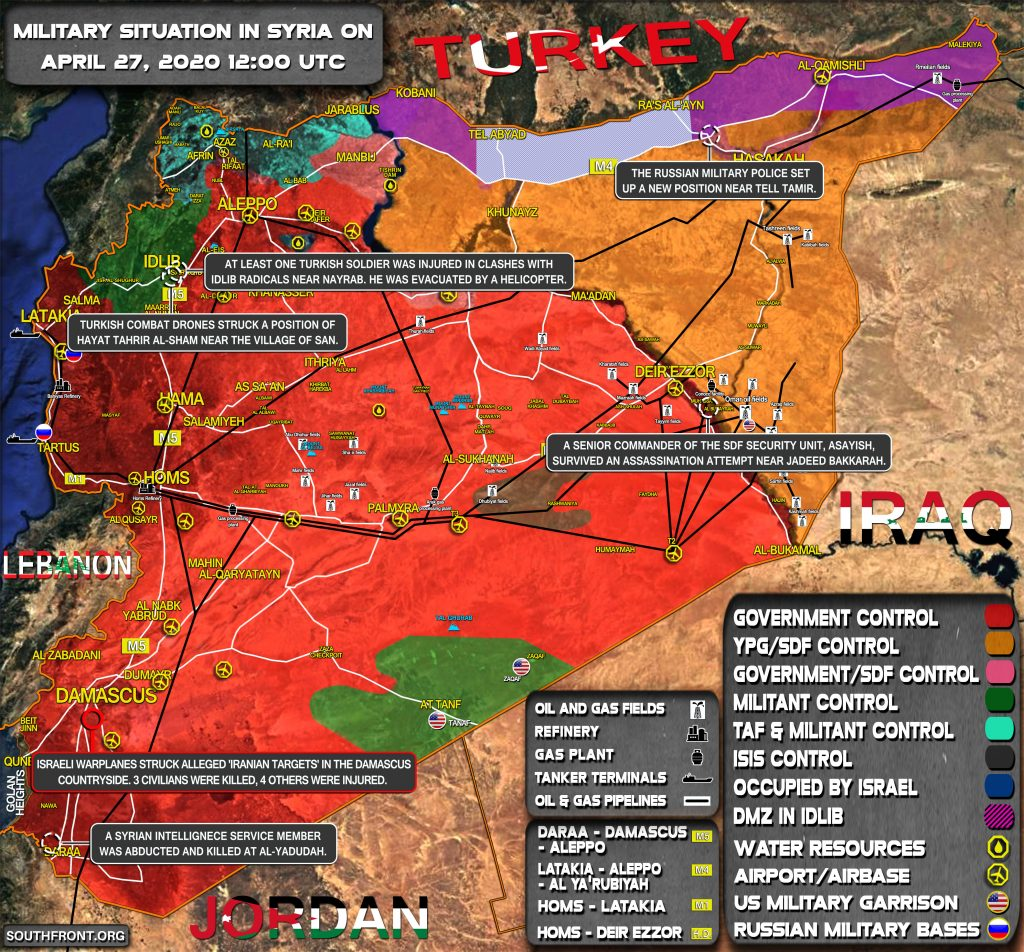 Military Situation In Syria On April 27, 2020 (Map Update)