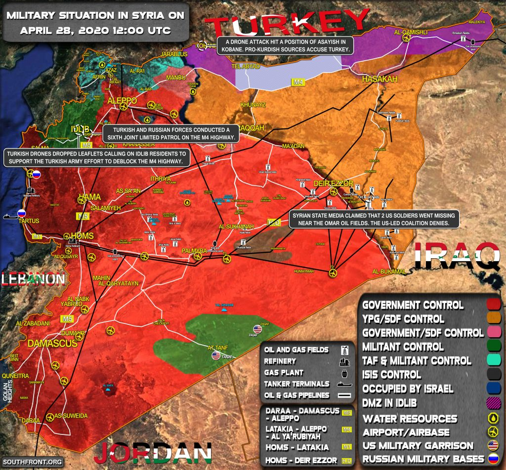 Military Situation In Syria On April 28, 2020 (Map Update)