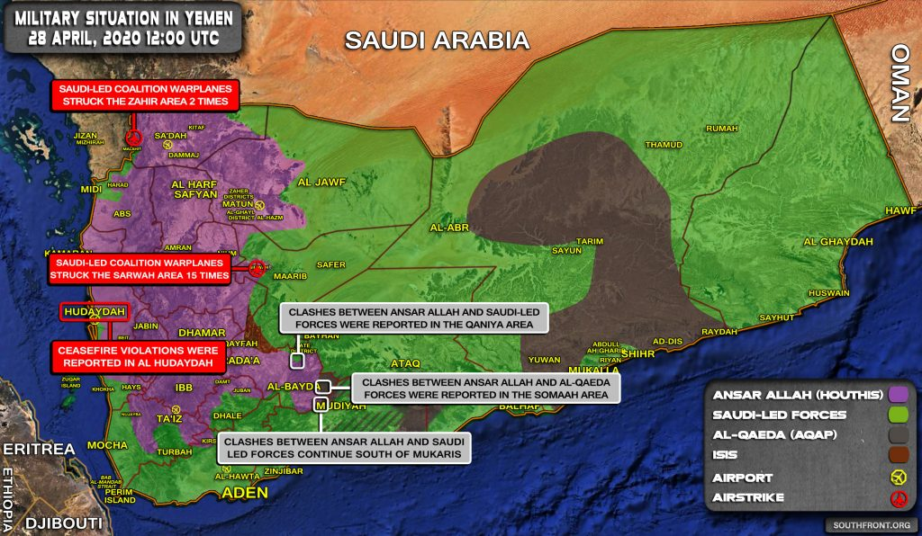 Military Situation In Yemen On April 28, 2020 (Map Update)