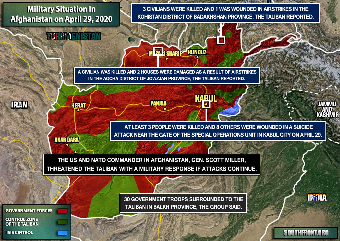 Military Situation In Afghanistan On April 29, 2020 (Map Update)