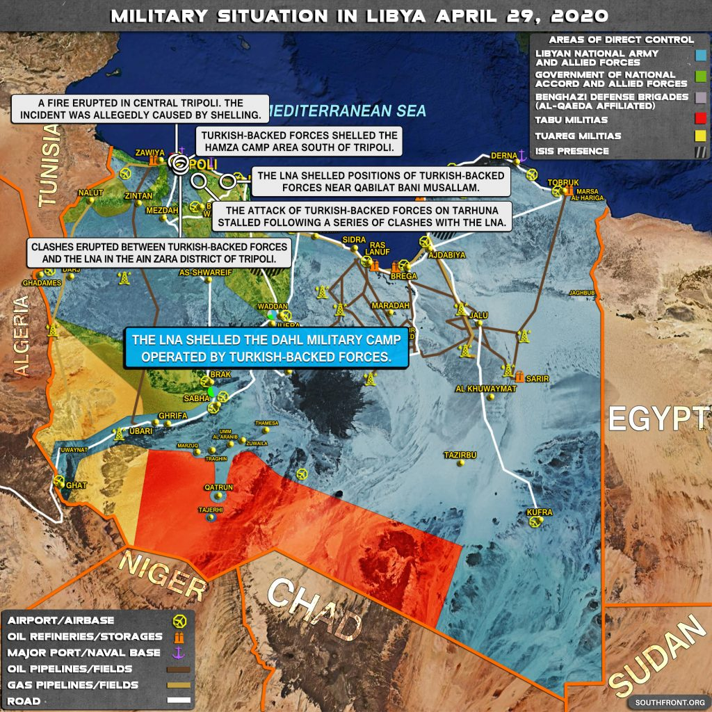 Military Situation In Libya On April 29, 2020 (Map Update)