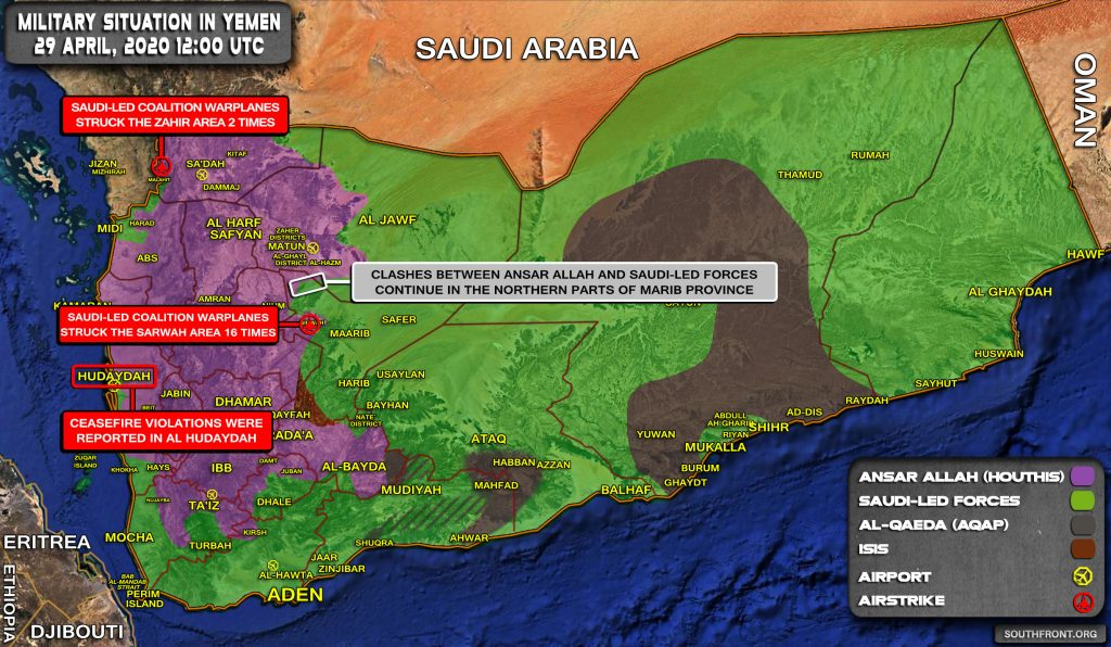 Military Situation In Yemen On April 29, 2020 (Map Update)
