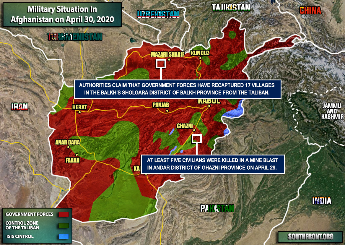 Military Situation In Afghanistan On April 30, 2020 (Map Update)