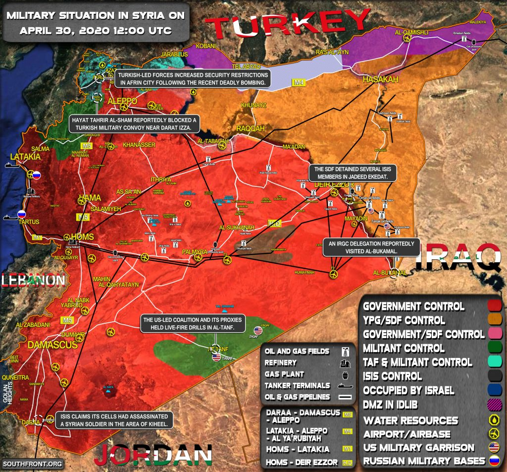 Military Situation In Syria On April 30, 2020 (Map Update)