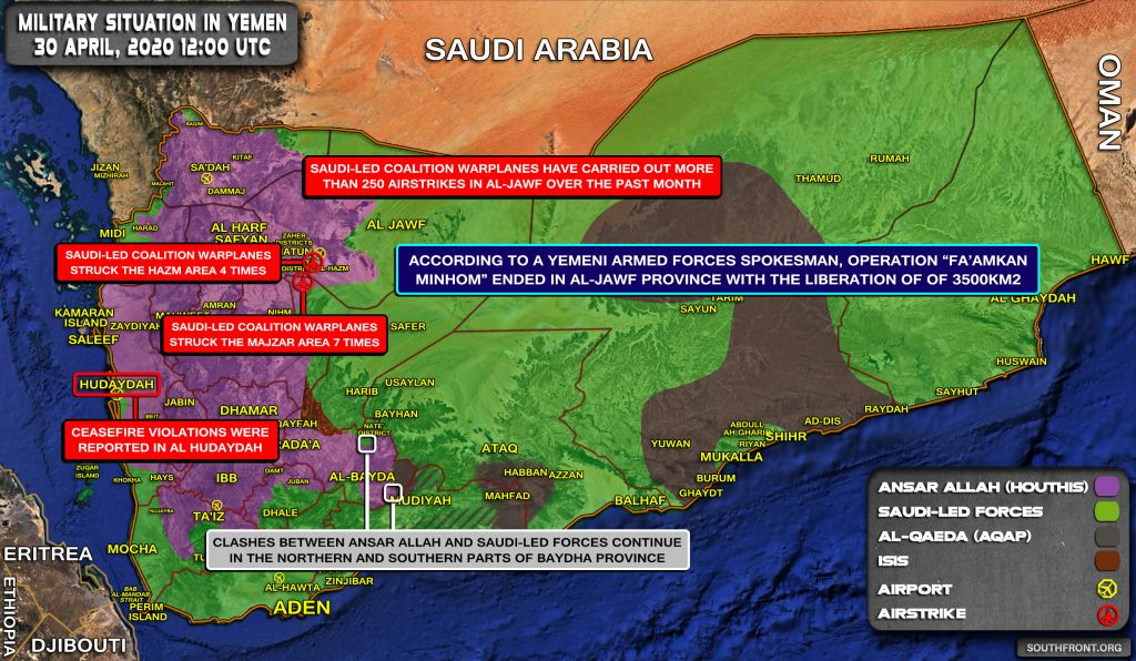 Military Situation In Yemen On April 30, 2020 (Map Update)