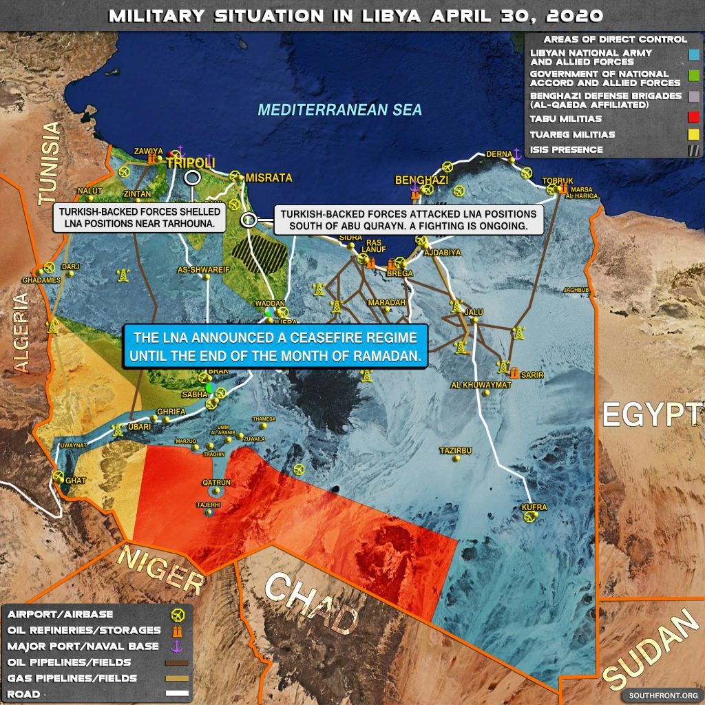 Military Situation In Libya On April 30, 2020 (Map Update)