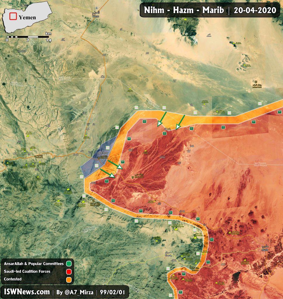 Ansar Allah Captured Al-Jufra Military Camp In Yemen's Marib Province (Map Update)