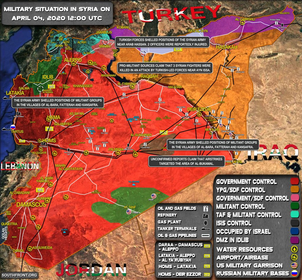 Military Situation In Syria April 4, 2020 (Map Update)