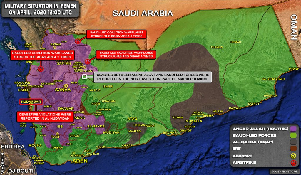 Military Situation In Yemen On April 4, 2020 (Map Update)