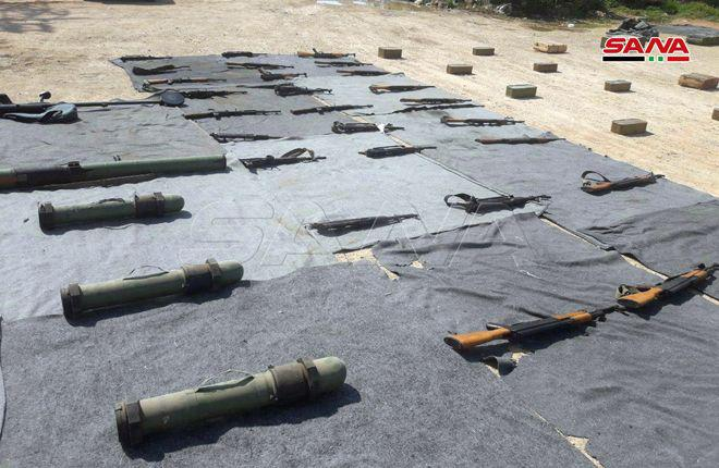In Photos: Security Forces Seize Militants' Weapon Caches In Damascus And Quneitra