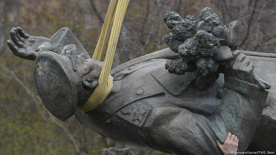 Monument Of Soviet General Taken Down In Prague, Prompts Attack On Czech Embassy In Moscow