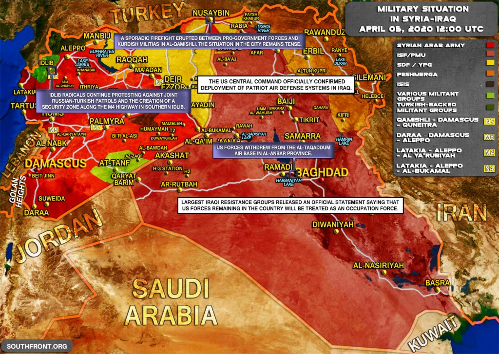 Military Situation In Syria And Iraq On April 5, 2020 (Map Update)