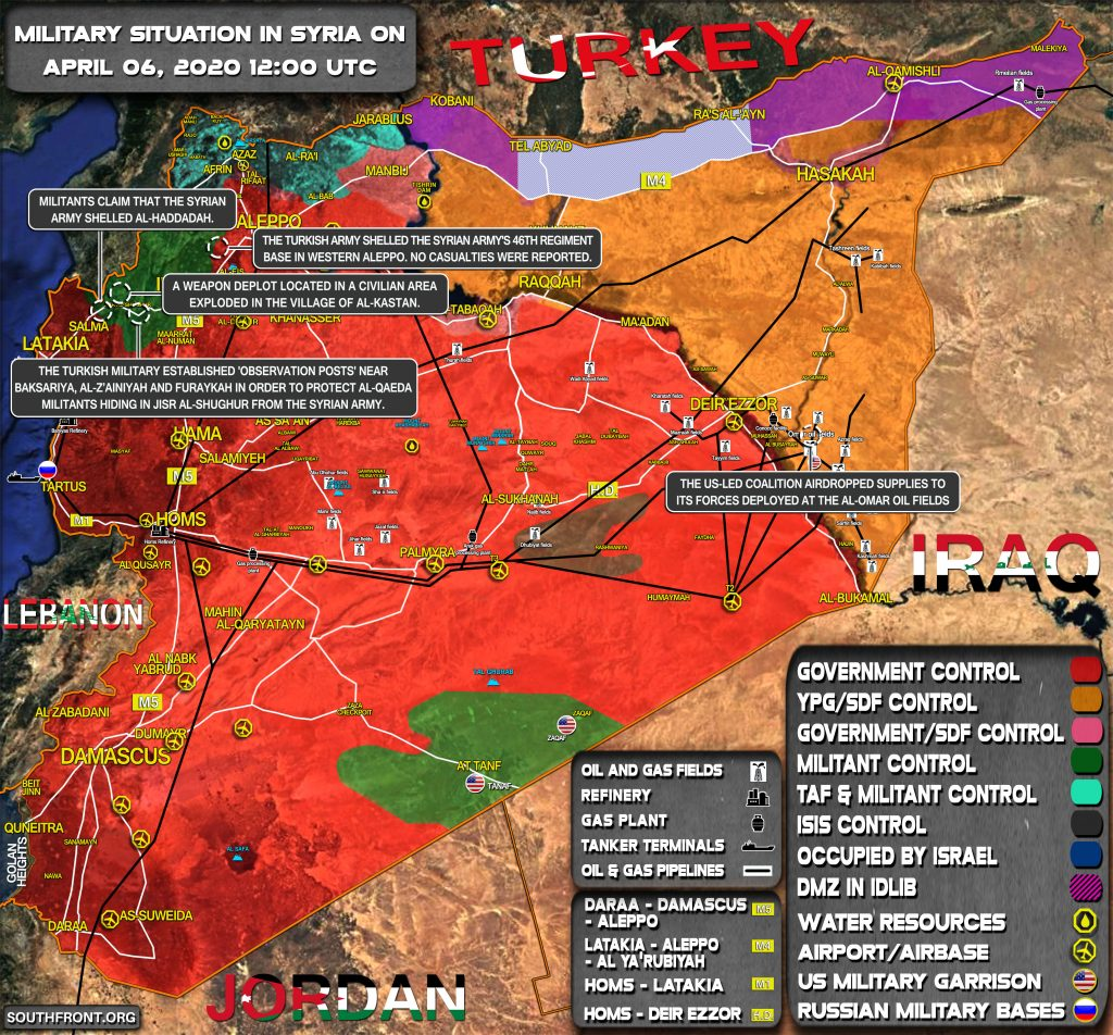 Military Situation In Syria April 6, 2020 (Map Update)