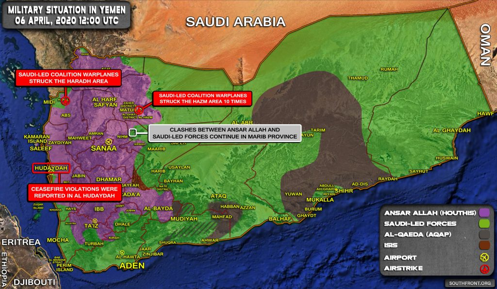 Military Situation In Yemen On April 6, 2020 (Map Update)