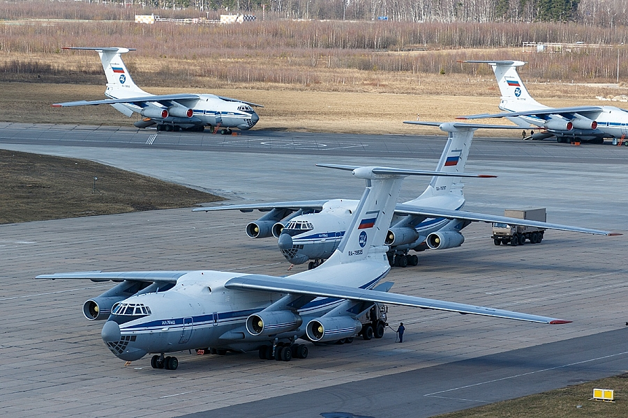 Russian Military Sending Medical Aid And Specialists To Serbia With 11 IL-76 Flights