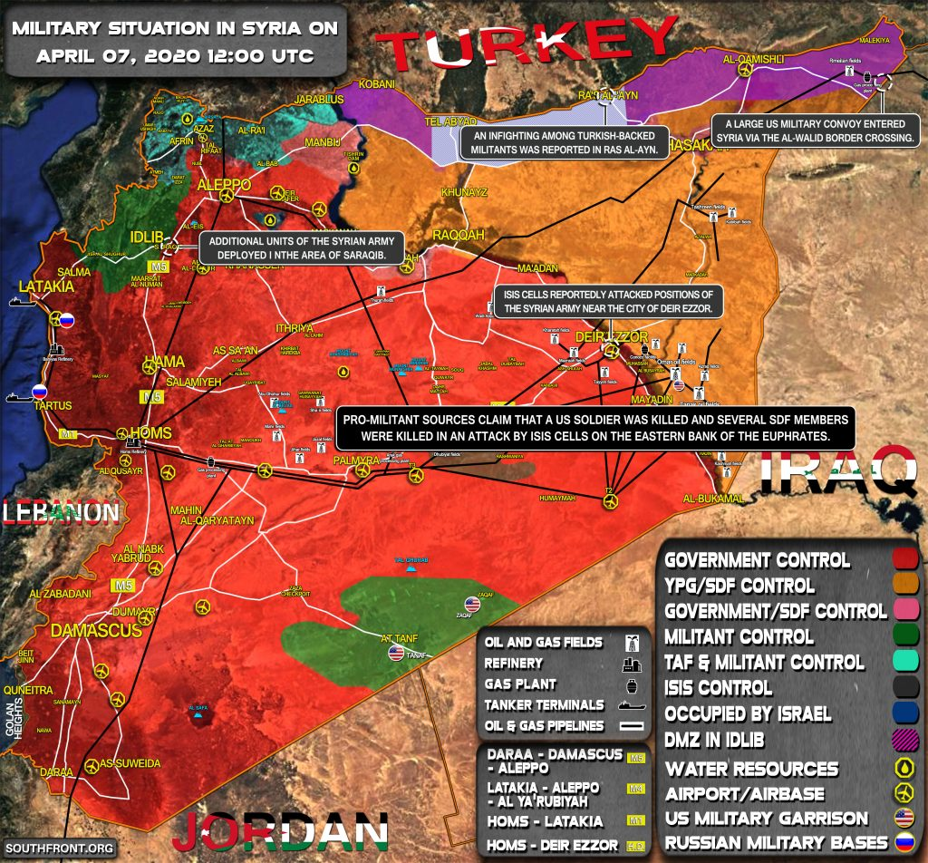Military Situation In Syria On April 7, 2020 (Map Update)