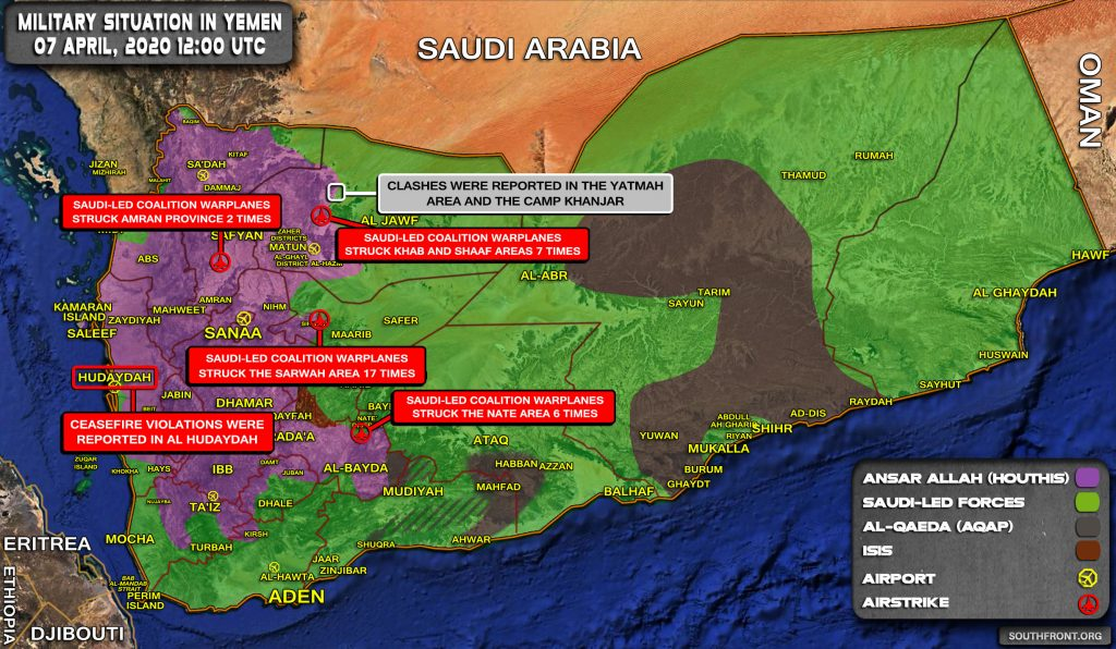 Military Situation In Yemen On April 7, 2020 (Map Update)
