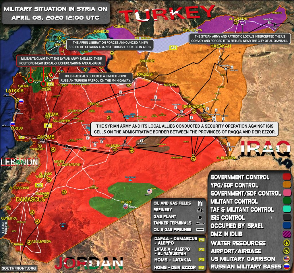 Military Situation In Syria On April 8, 2020 (Map Update)