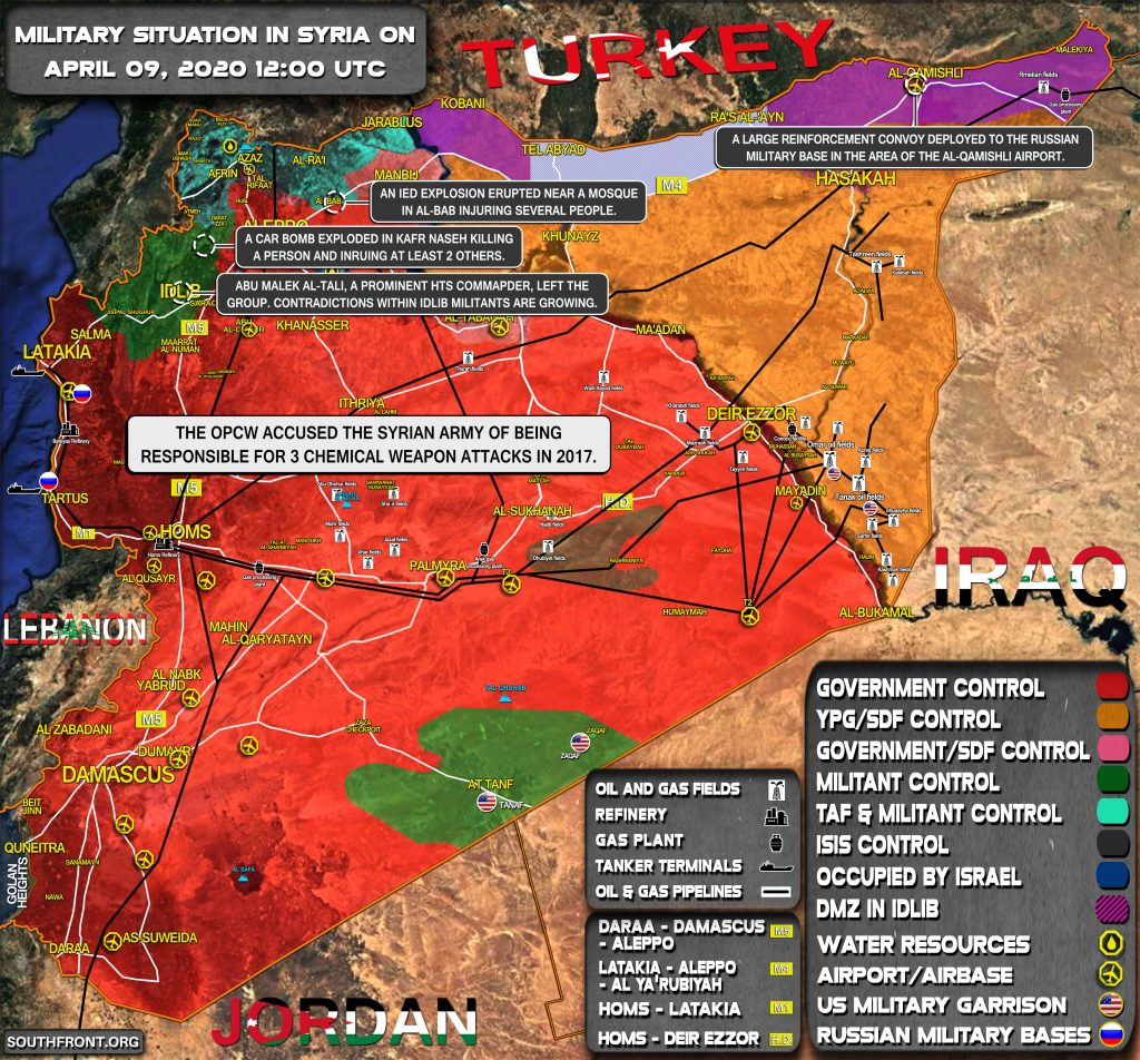 Military Situation In Syria On April 9, 2020 (Map Update)