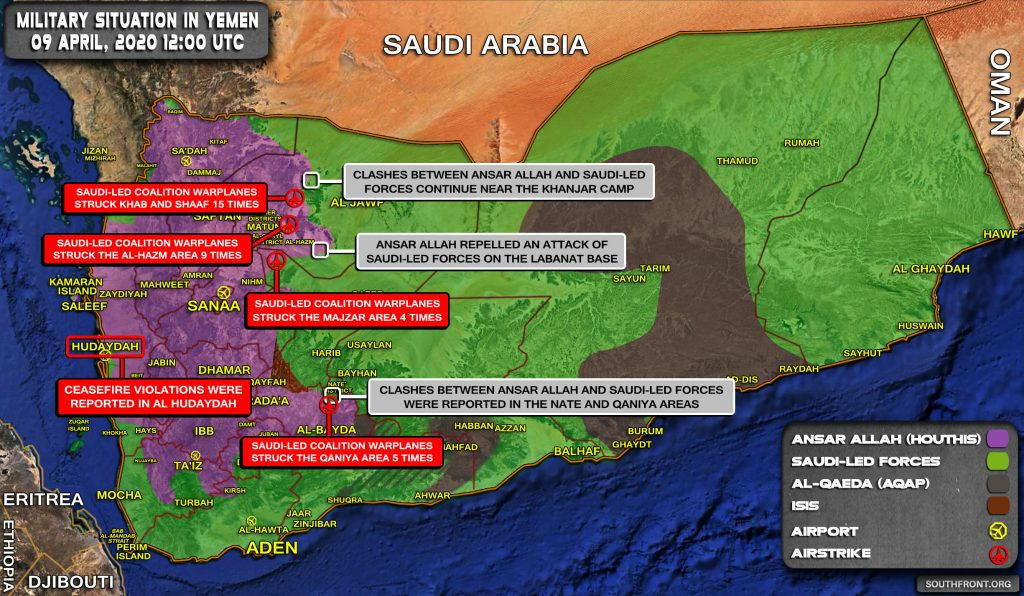 Military Situation In Yemen On April 9, 2020 (Map Update)