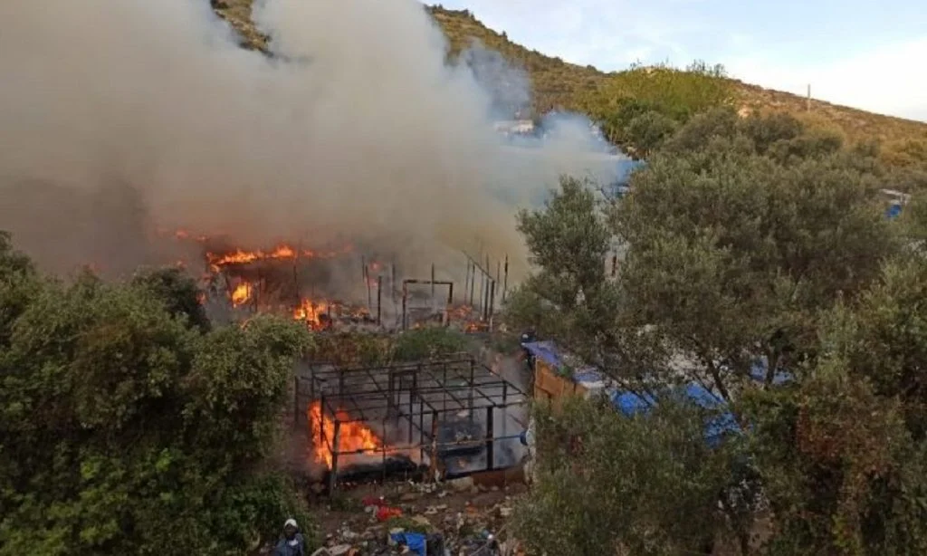 Tensions Between Migrant Groups Lead To Fires In Greek Camp