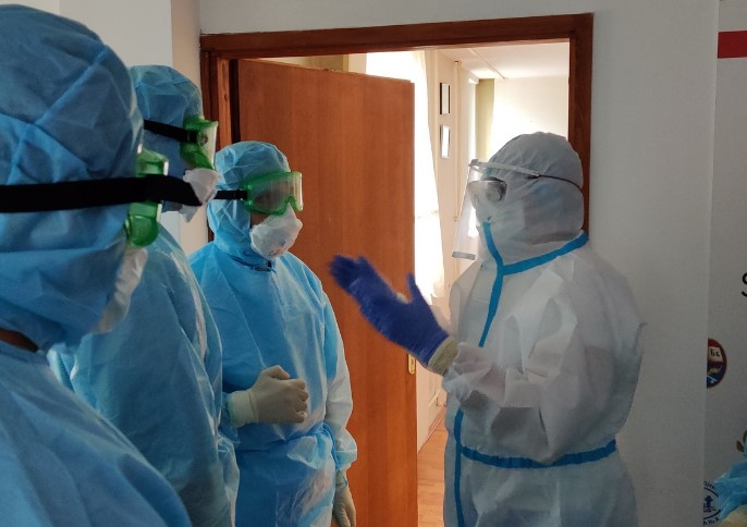 Russian Experts Helped To Organize Anti-Epidemic Regime In Temporary Medical Center For Patients With Coronavirus Infection In Krushevac