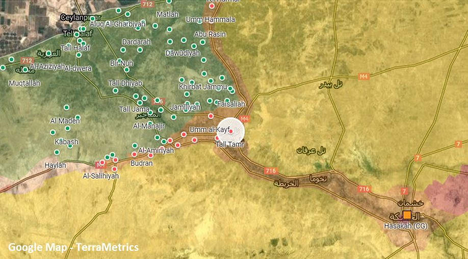 Russian Forces Establish New Position Near Tell Tamr In Northeast Syria