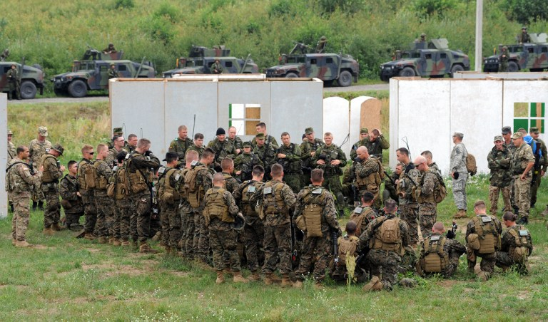 Foreign Instructors Training Ukrainian Troops And Nazi Battalion Members