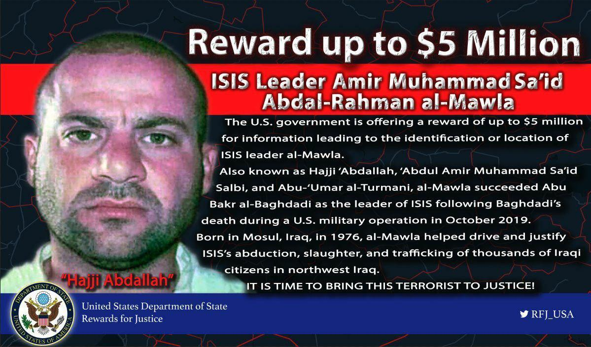 U.S. Offers $5M Reward For Information On New ISIS Leader In An Endless Whack-A-Mole