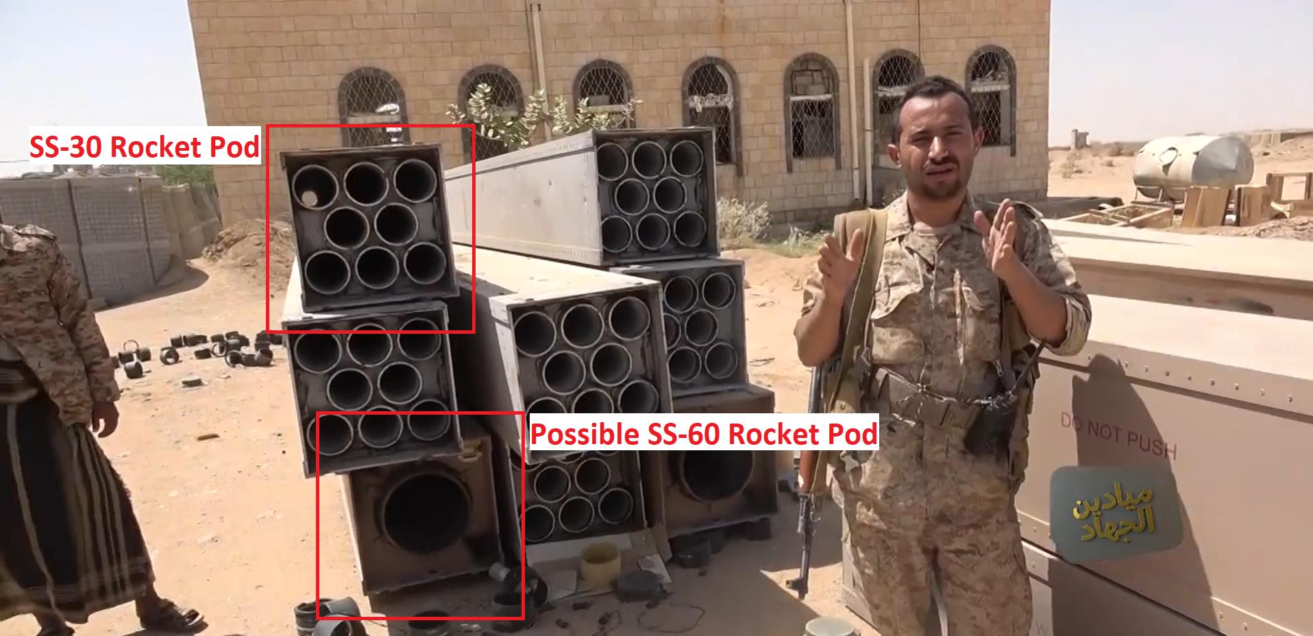 Houthis Showcase Ammunition Of Saudi Forces' Brazilian-Made Rocket System (Video)