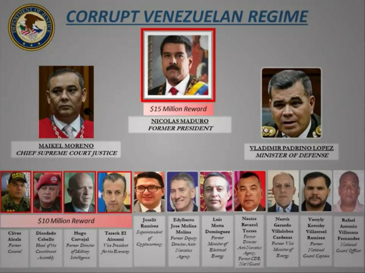 US Charges Former Member Of Venezuela's National Assembly With 'Narcoterrorism'