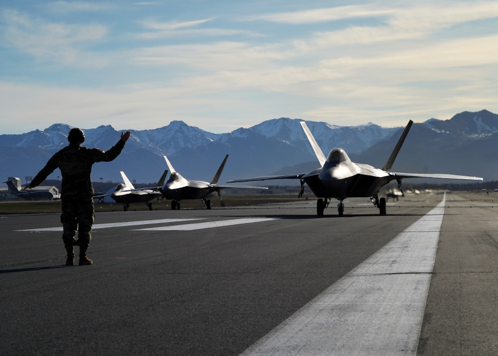 "In Photos: US Air Force Stages ""Moose Walk"" In Alaska"