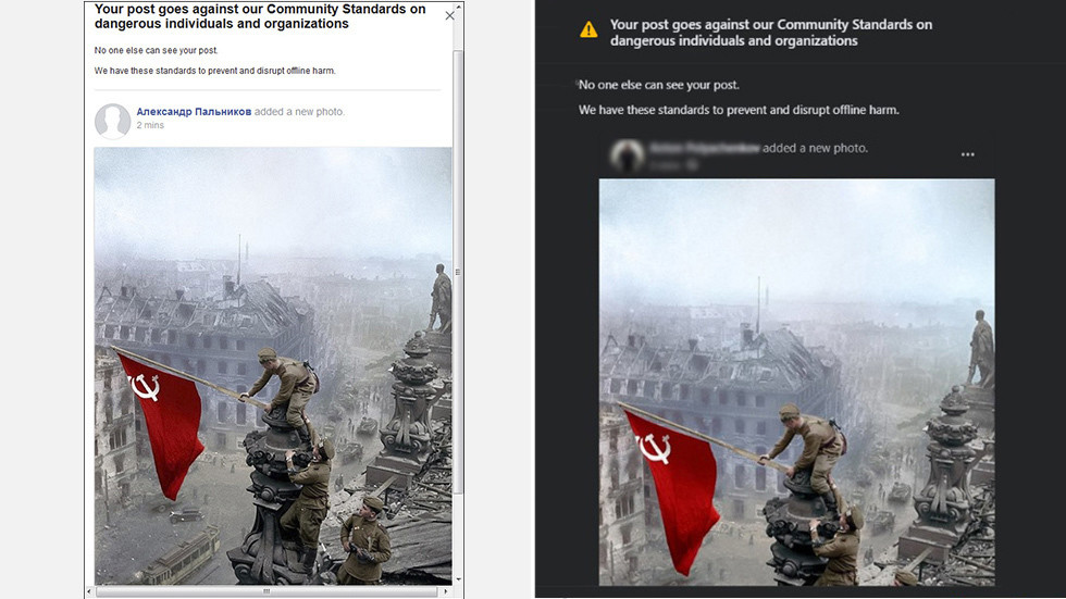 Facebook Engine Censors Iconic Photo With Soviet Flag Raised Over Reichstag As Trump Claims U.S. And U.K. Won WW2