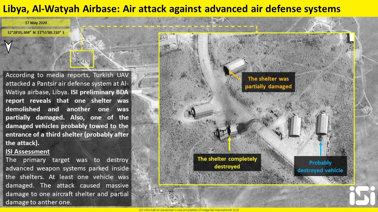 Satellite Images: Impact Of May 16 Turksih Strikes On Al-Watiah Air Base