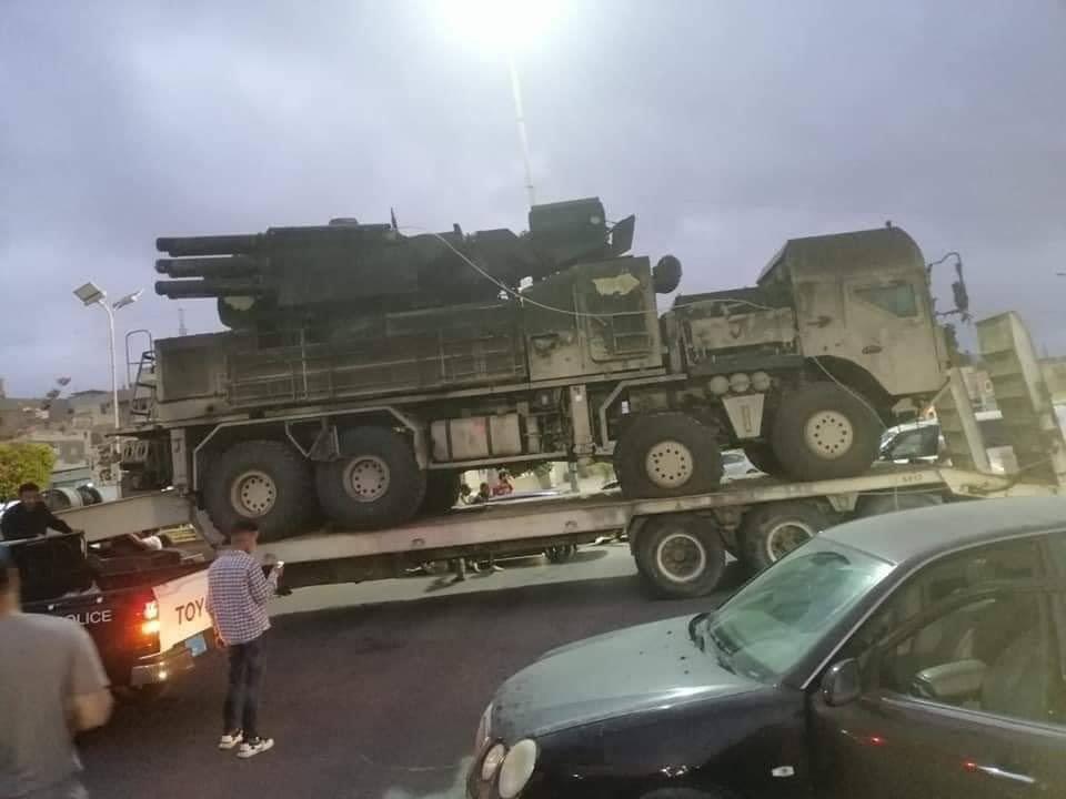 Turkish-backed Forces Showcase In Tripoli Panstir-S1 System Captured At Watiya Airbase