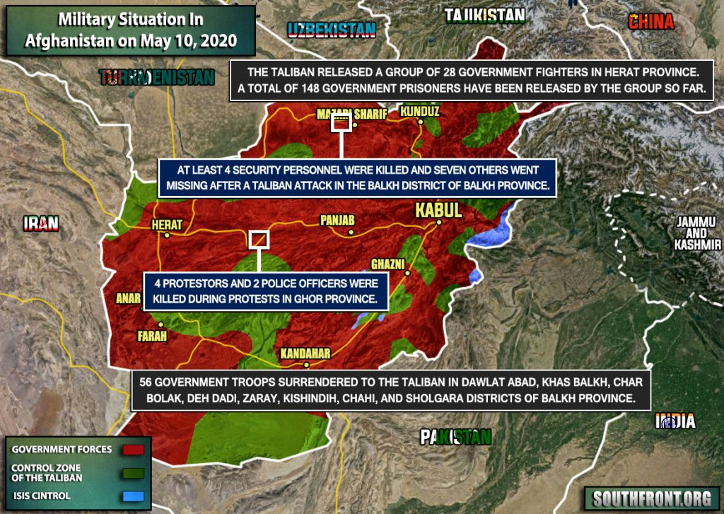 Military Situation In Afghanistan On May 10, 2020 (Map Update)